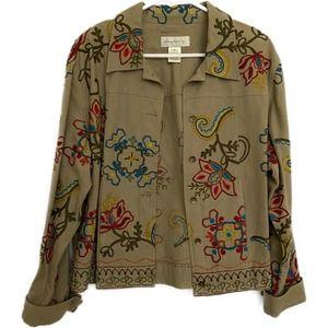 Susan Bristol Cotton Jacket embroidered